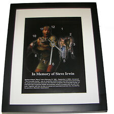 In memory of Steve Irwin. High quality framed print and clock