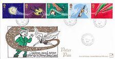 (92716) Gb Palo Con Sellos FDC Peter Pan esfera del reloj St Helens Cds 20 de agosto 2002