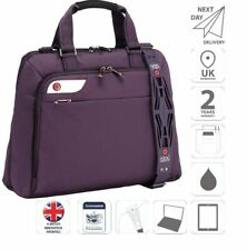 "Ladies 15.6"" Laptop & iPad Bag Business Bag Briefcase Purple is0126"