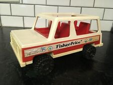1973 Vintage Fisher Price Little People Jeep Station Wagon Woody #992