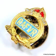 WW2 RAFVR Volunteer Reserve Enamel Buttonhole Brooch Badge-Royal Air Force #A025
