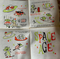 1 Vintage Humorous Rare Alien Space Age Cocktail Paper Napkin With Sayings NOS