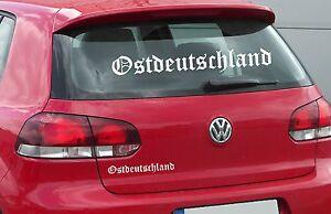 Ostdeutschland Aufkleber DDR Sticker AUTO Heckscheibe Osten Tuning Motorhaube