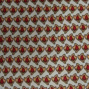 Silver Red Peach Foulard Silk Tie