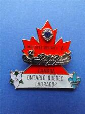 LIONS CLUB INTERNATIONAL PIN ONTARIO QUEBEC LABRADOR CANOE DISTRICT A CANADA