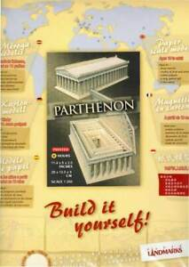 Parthenon Paper Model Kit to Build Yourself - DIY Posterboard Pre-Printed