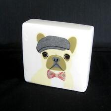 New ListingRae Dunn Paperweight Desk Block Artisan Collection French Bulldog Dog 4.5 x 4.5