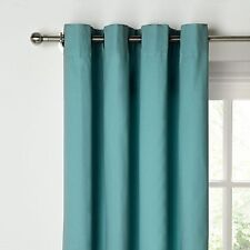 John Lewis Cotton Rib Lined Eyelet Curtains, Deep , ,New rrp:£95  size 228 x 182