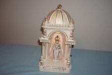Antique Infant Jesus Of Prague Plaster Catholic Illuminated Altar Music Box