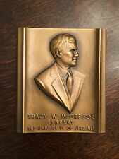 University of Virginia UVA McGregor Library Marshall Fredericks Plaque Sculpture