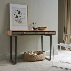 2 Drawer Console Table, Acacia Wood