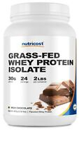 Nutricost Grass-Fed Whey Protein Isolate (Chocolate) 2LBS - Non-GMO, Gluten Free