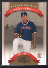 JORGE DE LA ROSA 2002 DONRUSS CLASSICS #132 RC ROOKIE RED SOX SP #0604/1500