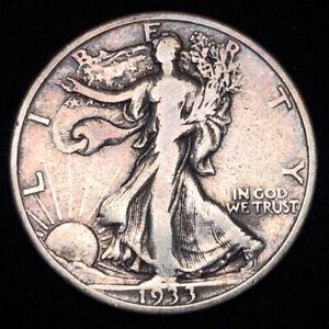 1933-S Walking Liberty Half Dollar San Francisco 90% Silver U.S. Coin