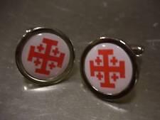 Franc-Maçon Knights Templar Croix Rouge Jérusalem Boutons
