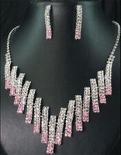 BRIDAL/WEDDING  Crystal/Diamonte Necklace Set **136**