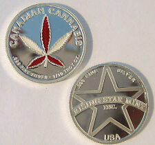 1/10th Troy Oz Pure .999 solid silver Canadian Red & White Leaf Cannabis Coin