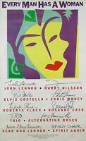 John Lennon & Yoko Ono 1984 Every Man Has A Woman Original Promo Poster