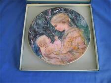 Royal Doulton Edna Hibel Plate Kristina Mother and Child