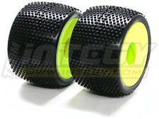 Integy C22498YELLOW X-Wide Monster Wheel & Tire(2)SQ-Pattern(40 size)(OD=140mm)