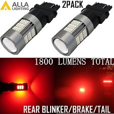 Alla Lighting 2x 3157 54-LED Brake Stop Tail Light Blinker Bulbs Lamps,Vivid Red