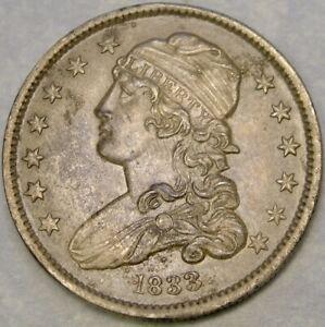 1833 CAPPED BUST SILVER QUARTER BEAUTIFUL CHOICE GORGEOUS CRISP SCARCE KEY DATE