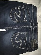 Silver Jeans Women's Tuesday Low Rise Bootcut Embellished Jeans W27/L31