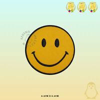 Smile Face Emoji Embroidered Iron On Sew On Patch Badge