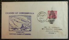 1934 USS Macon Airship zeppelin Change Of Commander Cover Sunnyvale Ca USA
