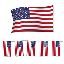4th of July Independence Day Party Pack. 2 Rectangle USA Bunting / American Flag