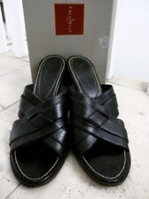 """COLE HAAN Black Leather Mules """"MAE"""" US 7B (UK4) Worn Twice Only VGC In Box"""