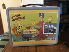 Simpsons Metal Lunch Box & Metal Drink Container 2003