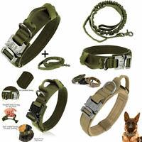 Taktisches Hundehalsband Leinen Set Halsband Verstellbar Gepolstert mit Griff