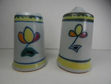 Vintage Buchan Stoneware Sutherland Salt and Pepper Shakers Scotland 3""