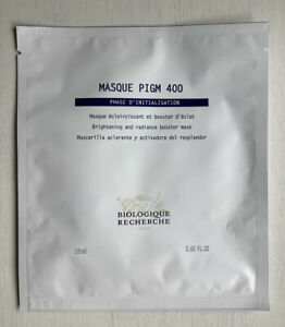 BIOLOGIQUE RECHERCHE MASQUE PIGM 400 MASK X 1 BRAND NEW NEWEST RELEASE
