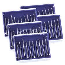 5 Kits Dental Tungsten Steel Carbide Burs Pear Shaped Type High Speed Burs Fg330