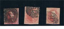 Bélgica. Conjunto de 3 sellos de 40 cts usado y sin dentar