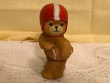 Lucy & and Me Riggs Teddy Bears Boy Football Player Red Helmet Figurine 1980