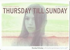Thursday Till Sunday film Dominga Sotomayor advertising postcard 2012 or later
