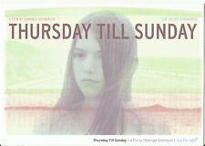 Thursday Till Sunday film Dominga Sotomayor advertising postcard 2012 or later