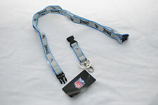 Tennessee Titans Ultra Slim Lanyard, Grey with Blue Trim