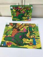 🍓 Ancien Puzzle Walt Disney Elliott Le Dragon 100 Pièces Complet Nathan 1978