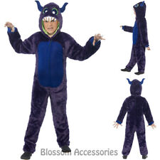 CK890 Monster Hooded Jumpsuit Halloween Child Fancy Dress Party Costume
