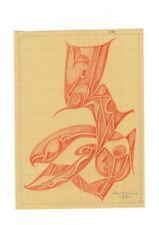 Fritz Klee original Pastell Zeichnung 1951 / 21x15,5 cm