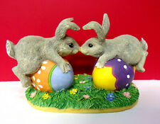 Charming Tails Bunny Love Silvestri Rabbit Touching Noses Easter Figurine