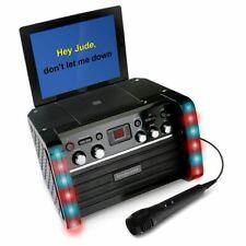 Professional Karaoke Machine Kareoke System Party Bluetooth Microphone CD Discs