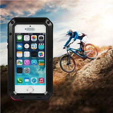 Shockproof Aluminum Glass Metal Full Case Cover For iPhone 5 5s SE 6 6s 7 & Plus