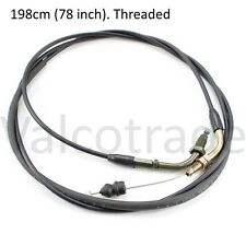 Throttle Accelerator Cable fits Chinese 50cc 125cc GY6 scooters (Threaded Type)