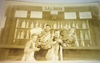 Rare Antique American WWII Victory Celebration Saloon Real Photo Postcard! RPPC!
