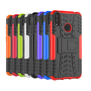 Rugged Hybrid Armor Matte Shockproof Kickstand Case Cover For Huawei Y7 Pro 2019